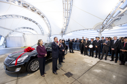 Secretary-General Receives Armoured Hyundai from Republic of Korea