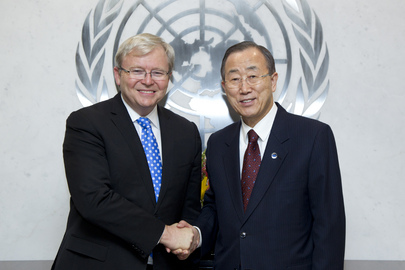 Secretary-General Meets Former Prime Minister of Australia