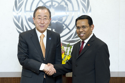 Secretary-General Meets Permanent Representative of Maldives