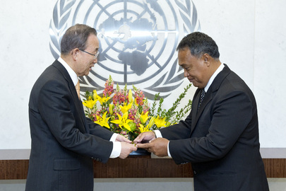 Permanent Representative of Tuvalu Presents Credentials