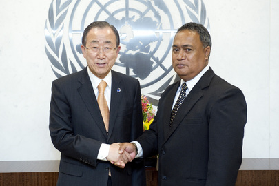 Secretary-General Meets Permanent Representative of Tuvalu