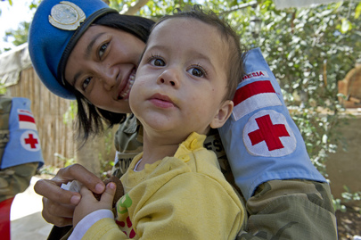 UNIFIL Medical Team on Home Visit to Patient in South Lebanon