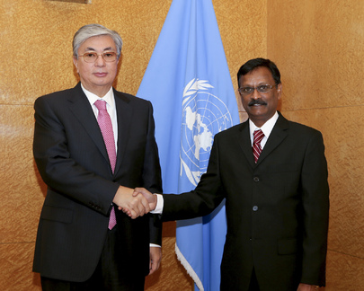 UNOG Director-General Meets New Permanent Representative of Mauritius