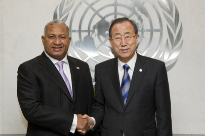 Secretary-General Meets Prime Minister of Fiji