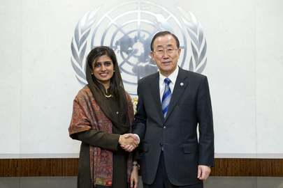 Secretary-General Meets Foreign Minister of Pakistan