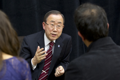 Secretary-General Interviewed by Student Journalists at Stanford