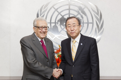 Secretary-General Meets Joint Special Representative for Syria