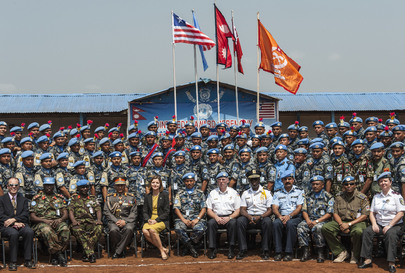 Nepalase Police Officers Receive UN Medal