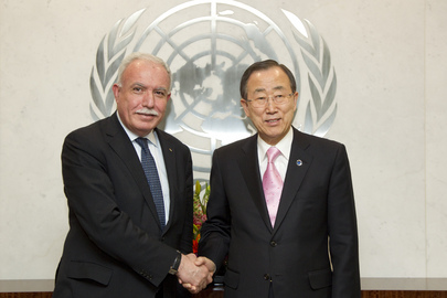 Secretary-General Meets Palestinian Foreign Minister