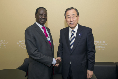 Secretary-General Meets Prime Minister of Kenya