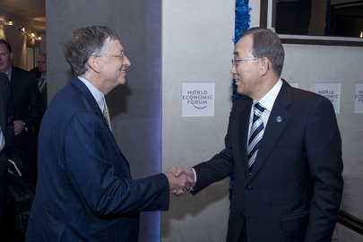 Secretary-General Meets Founder and Head of Gates Foundation