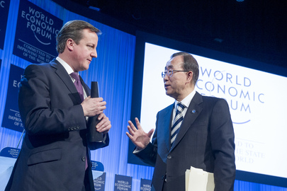 Secretary-General Meets Prime Minister of the United Kingdom in Davos