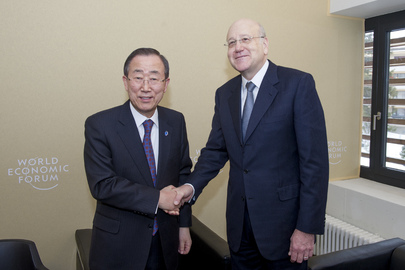 Secretary-General Meets Prime minister of Lebanon in Davos