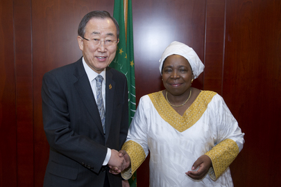 Secretary-General Meets Head of AU Commission
