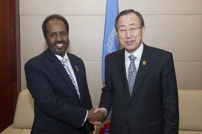 Secretary-General Meets President of Somalia