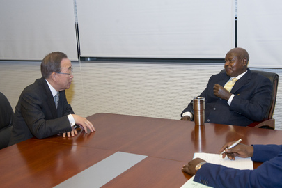 Secretary-General Meets President of Uganda