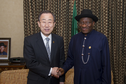 Secretary-General Meets President of Nigeria