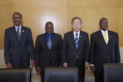 Secretary-General Meets Presidents of DRC, Rwanda, Uganda