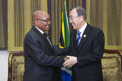 Secretary-General Meets President of South Africa