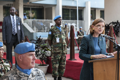 UN Medal Parade for UNMIL Military Personnel