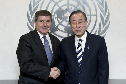 Secretary-General Meets Head of ILO