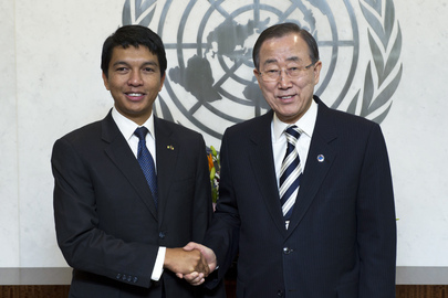 Secretary-General Meets Transition President of Madagascar