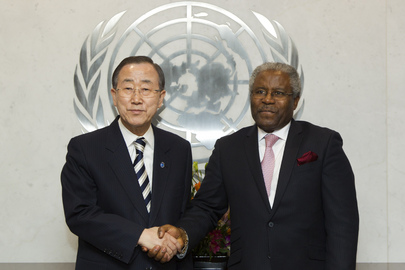 Secretary-General Meets Permanent Representative of Gambia