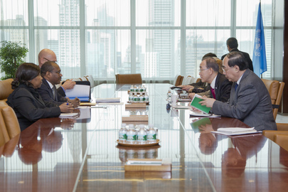 Secretary-General Meets Head of ITU