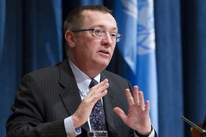 Jeffrey D. Feltman, Under-Secretary-General for Political Affairs, briefs journalists on a range of issues, including the situations in Mali, Somalia, Syria and Madagascar. 08 February 2013 United Nations, New York