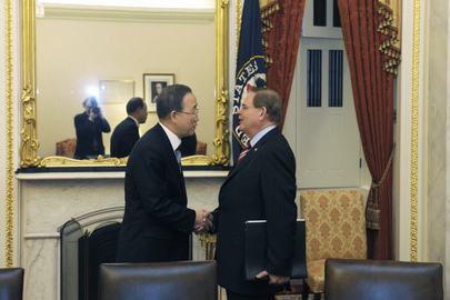 Secretary-General Meets Head of US Senate Foreign Relations Committee