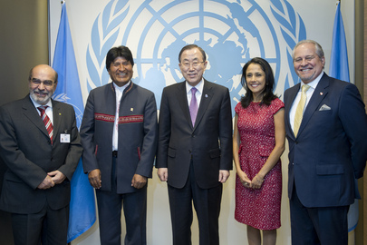 Secretary-General Meets Special Ambassadors for International Year of Quinoa