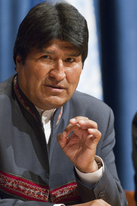 Press Conference by Bolivia's President on International Year of Quinoa
