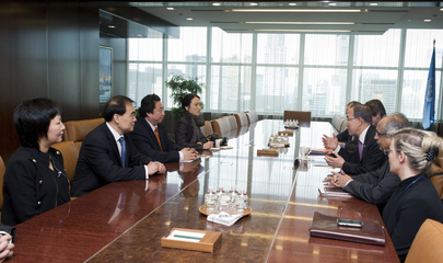 Secretary-General Meets Chinese Artist