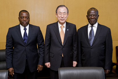 Secretary-General Meets President of DRC and Vice President of Uganda