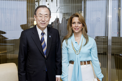 Secretary-General Meets UAE Princess Haya