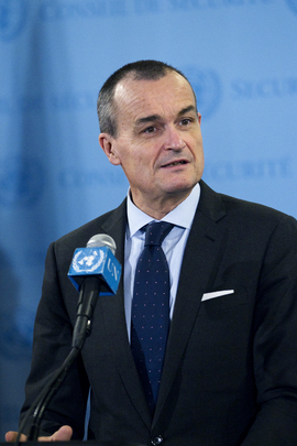 Permanent  Representative of France Briefs Media on Mali