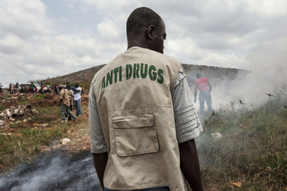 Liberia Police Anti-Drug Squad Burns Confiscated Drugs