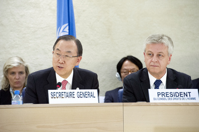 Secretary-General Speaks on Human Rights Mainstreaming