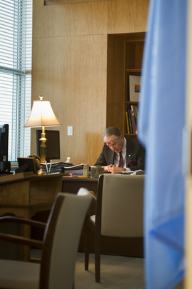 Deputy Secretary-General at Work at His desk