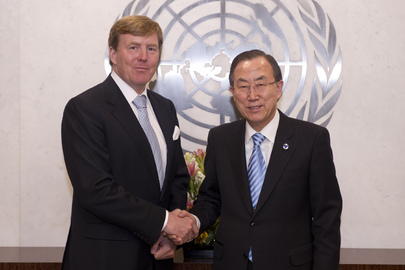 Secretary-General Meets Dutch Crown Prince, Chair of UN Water and Sanitation Board