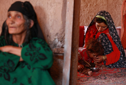 Women and Child in Farah, Afghanistan