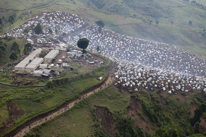 IDPs in Kitshanga, DRC after Heavy Fighting