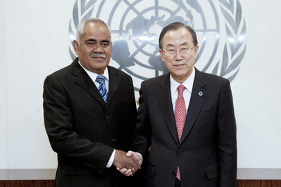 Secretary-General Meets Prime Minister of Tuvalu