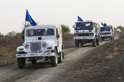 UNMISS Convoy in Jonglei State