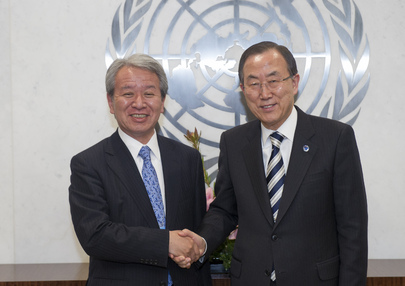 Secretary-General Meets Head of Japanese Development Agency