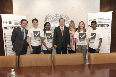 "Secretary-General Meets Volunteers of Global Survey, ""My World"""