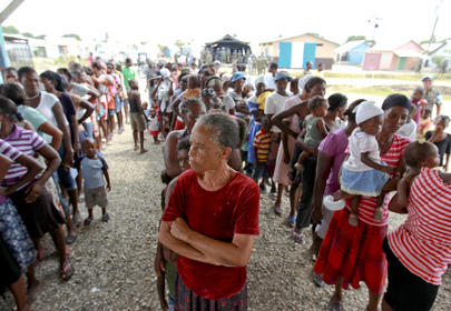 MINUSTAH Peacekeepers Mark International Women's Day in IDP Camp