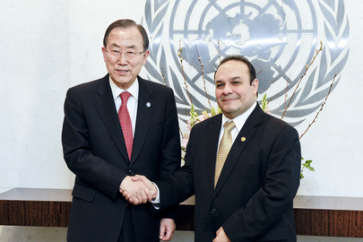 Secretary-General Meets Permanent Representative of El Salvador
