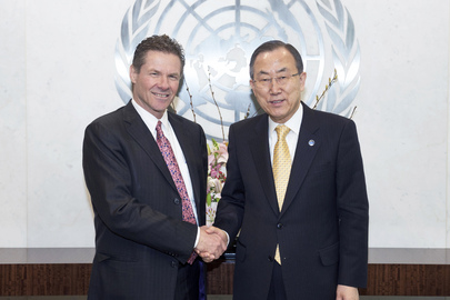 Secretary-General Meets President-designate of Arms Trade Treaty Final Conference