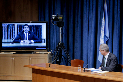 UN Envoy on Youth Briefs Media by Videolink from Senegal